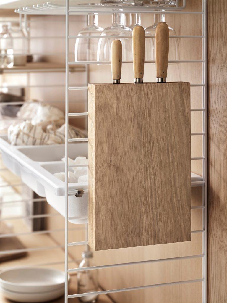 Detaljebilde fra String-kjøkkeninnredning string system