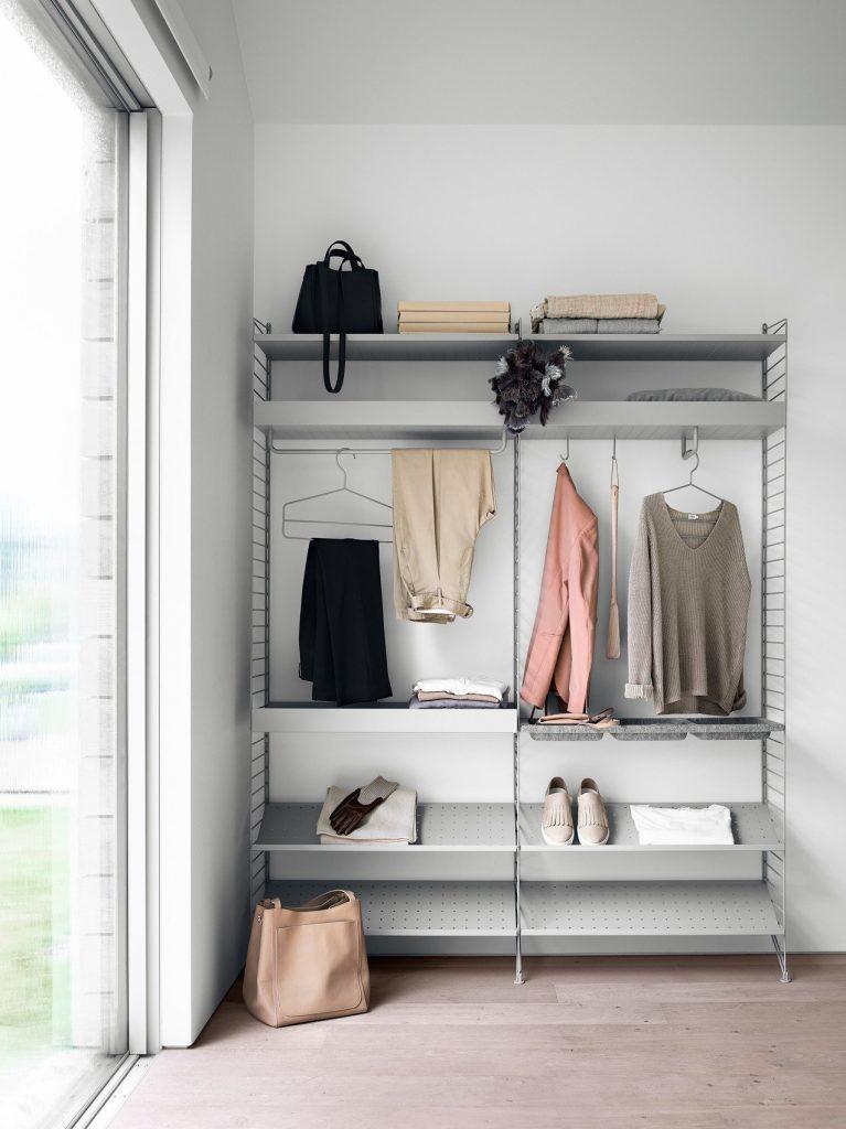 Hva med en nett og enkel garderobe? string system