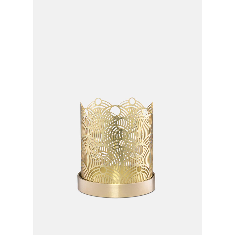 Lunar Candleholder | Small | Brass