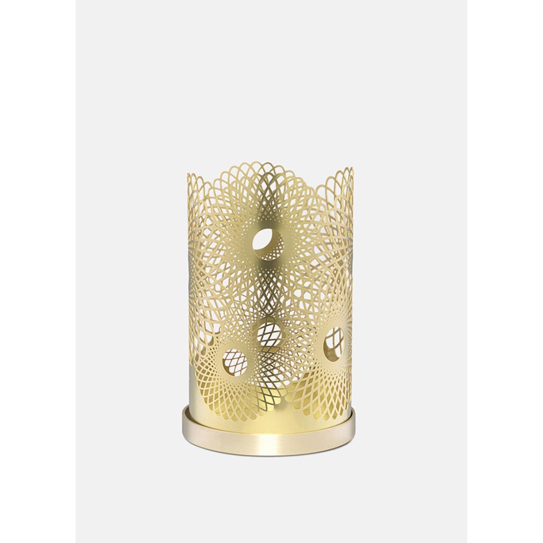 Feather Candleholder | Brass