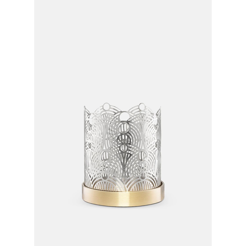 Lunar Candleholder | Small | Silver