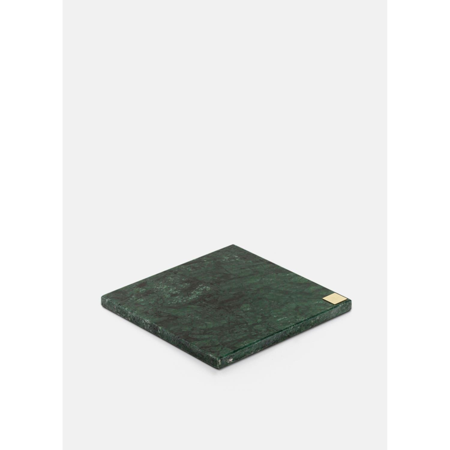 Green Marble Plate with Logo