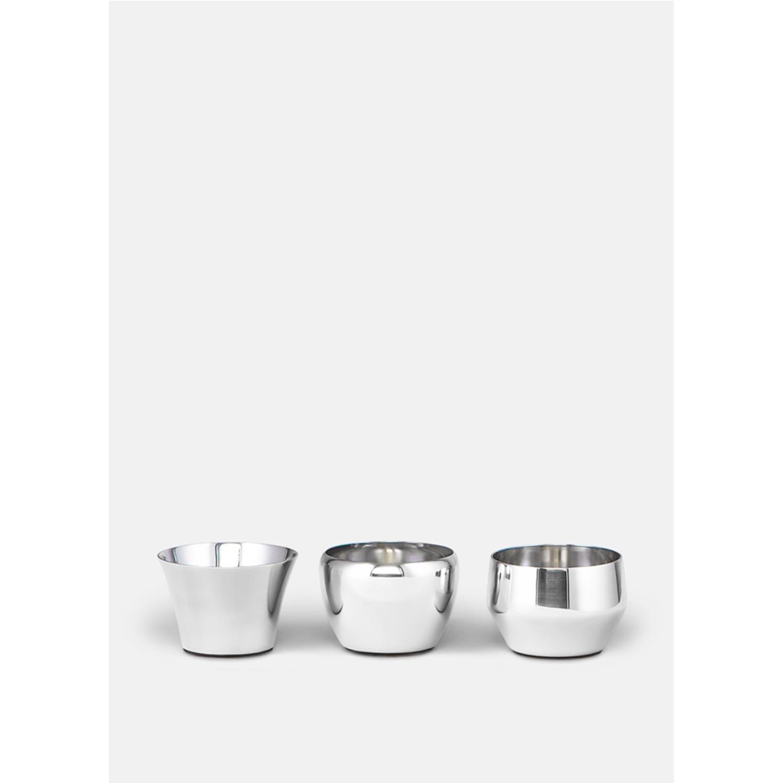 Kin Tealight | 3 stk | Stainless Steel