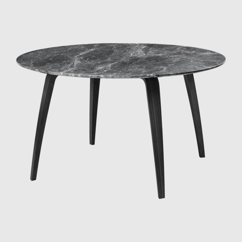 Gubi Spisebord | Ø130 | Sort Ask