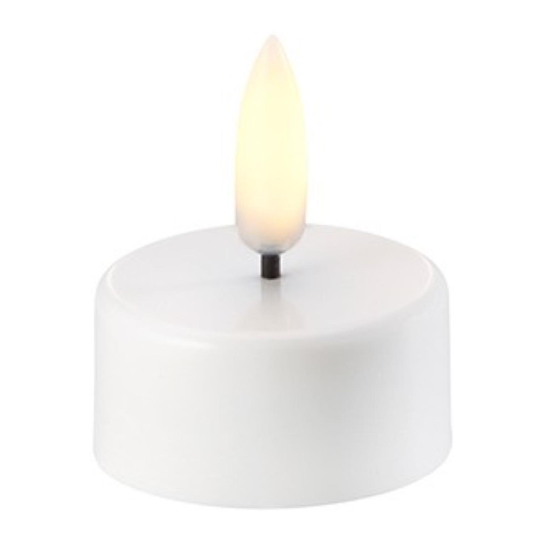 LED Tea-Light (CR2032) | Nordic White | Ø3,8 x 2 cm