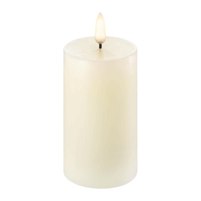 LED Pillar Candle | Ivory | Ø6 x 10 cm