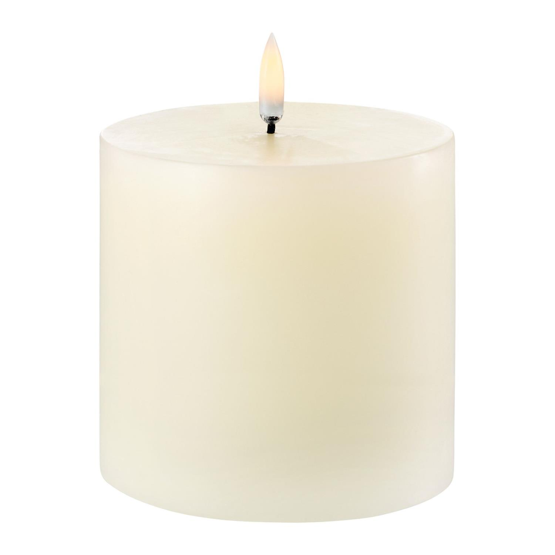 LED Pillar Candle | Ivory | Ø10 x 10 CM