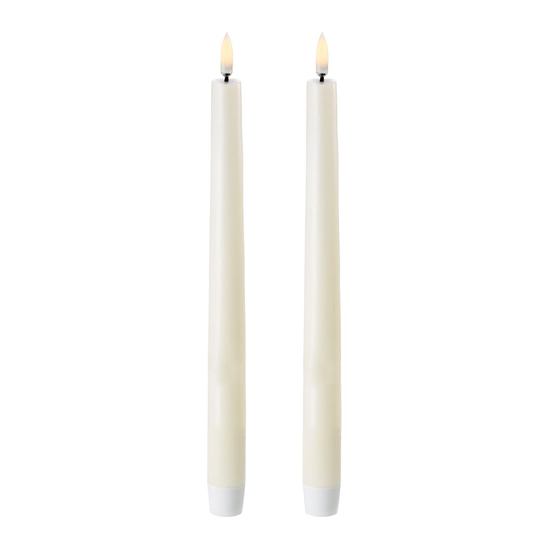 LED Taper Candle | 2pack | Ivory | Ø2,3 x 25 CM