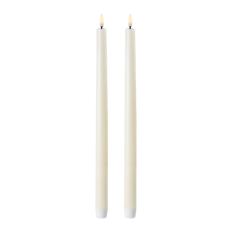 LED Taper Candle | 2pack | Ivory |  Ø2,3 x 35 CM