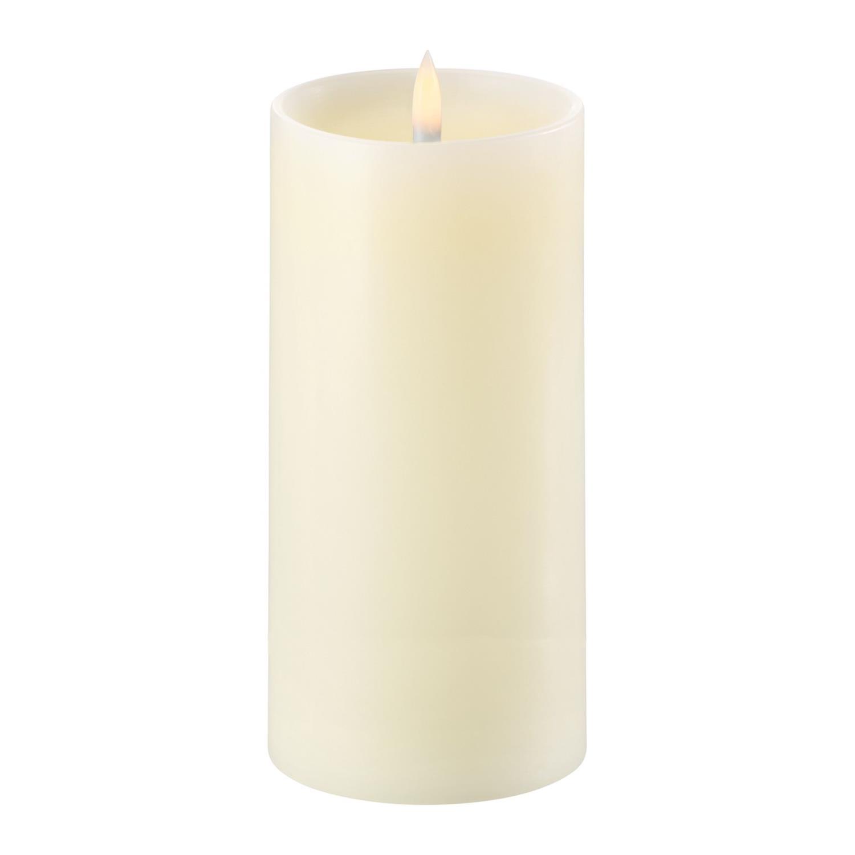 LED Pillar Candle | Ivory |  Ø8 x 15 CM | w. Shoulder