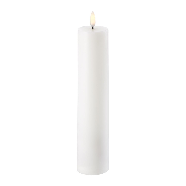 LED Pillar Candle | Nordic White | Ø5 x 22 cm