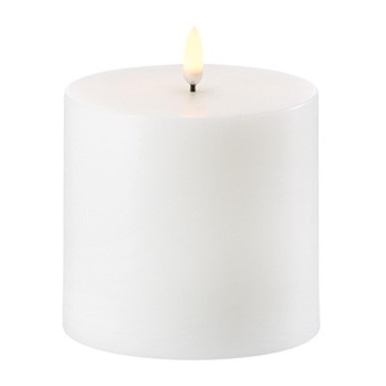 LED Pillar Candle | Nordic White | Ø10 x 10 cm