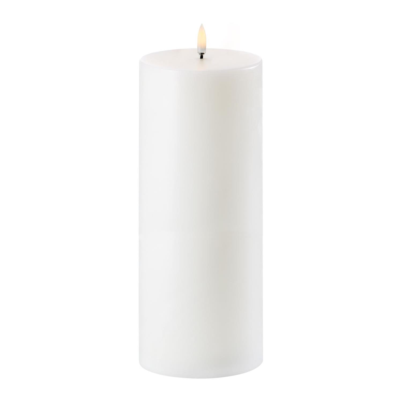 LED Pillar Candle | Nordic White | Ø10 x 25 cm