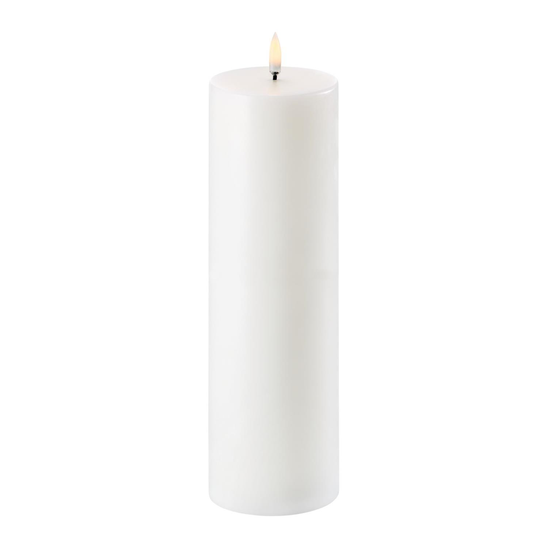 LED Pillar Candle | Nordic White | Ø8 x 25 cm