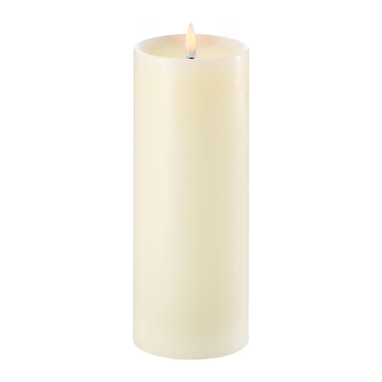 LED Pillar Candle | Ivory |  Ø8 x 20 CM | w. Shoulder