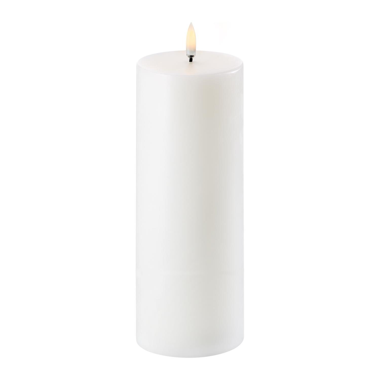Led Pillar Candle | Nordic White | Ø7,8 x 20 cm