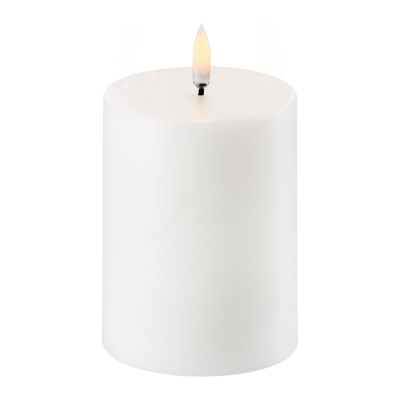 Led Pillar Candle | Nordic White | Ø7,8 x 10 cm