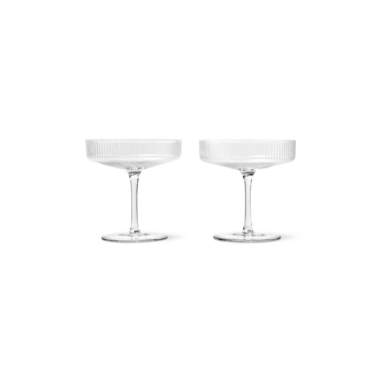 Ripple Champagneglass| 2stk sett