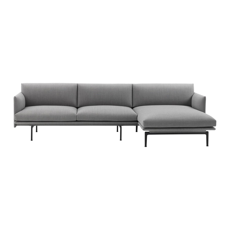 Outline 3 seter Sofa | Høyre Sjeselong