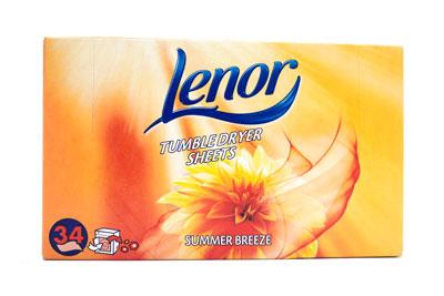 Lenor Tumble Dryer Sheets Summer Breeze 34stk