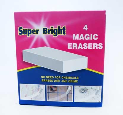 Super Bright Magic Eraser 4pk