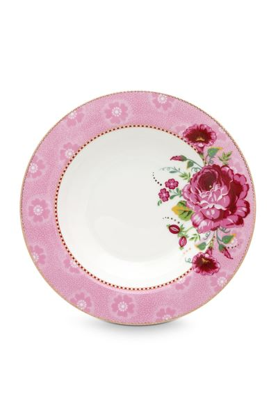 Dyp tallerken rosa