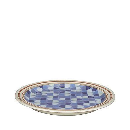 Tallerken blå mønster 22,5cm
