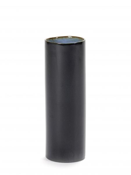 Vase dark blue D7 H21,5