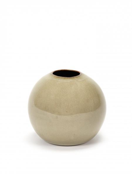 Ball vase M misty grey D12 H9