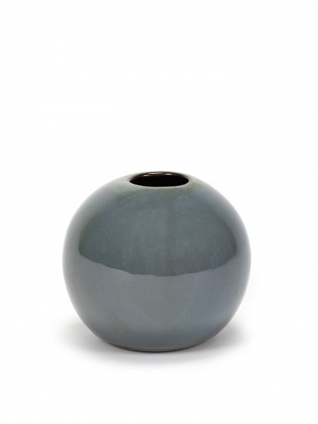 Ball vase M smokey blue D12 H10