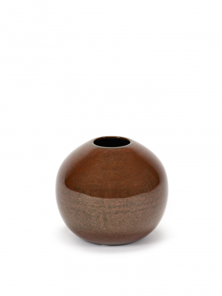 Ball vase S rust D9 H8