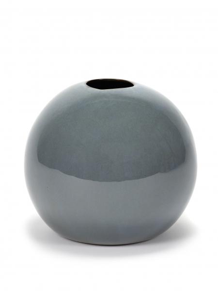 Ball vase XL smokey blue D17 H14