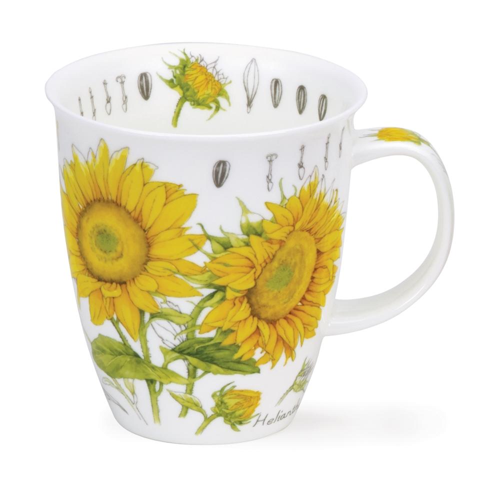 Nevis Floral sketch - yellow - sunflower