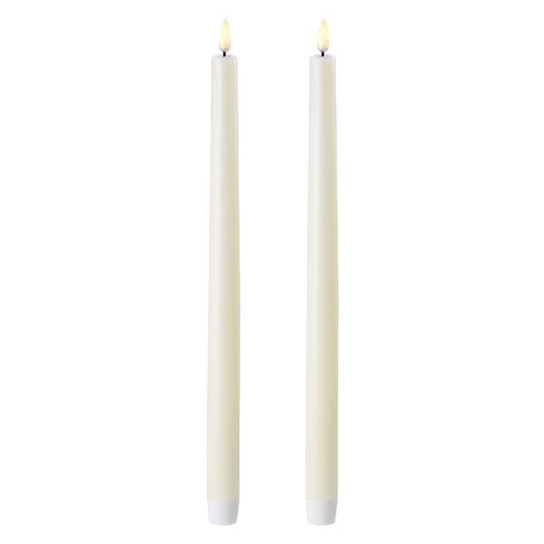 Kronelys ivory 2pk. 28 cm