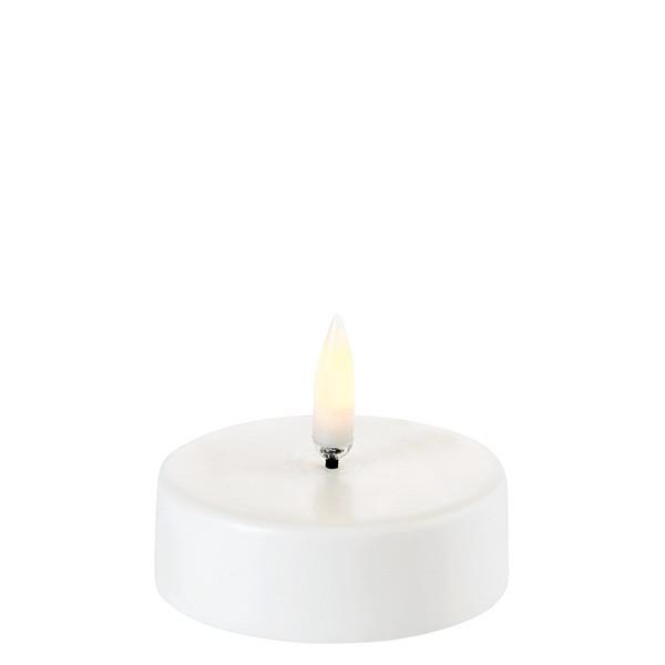 Te-lys nordic white 6 x 2 cm