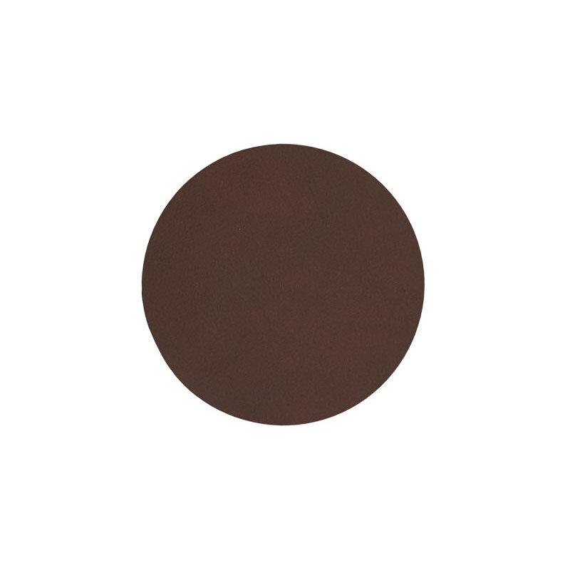Glass mat circle dark brown