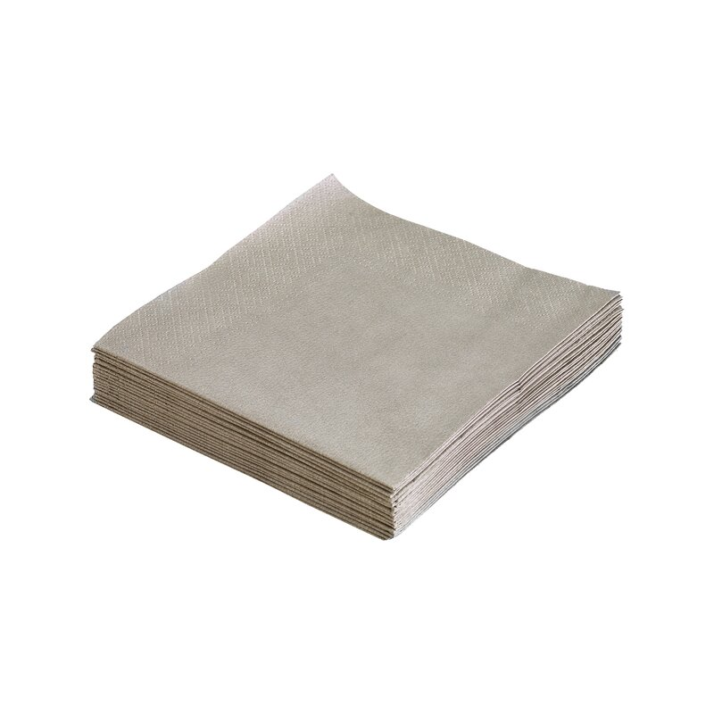 Servietter light grey 33x33