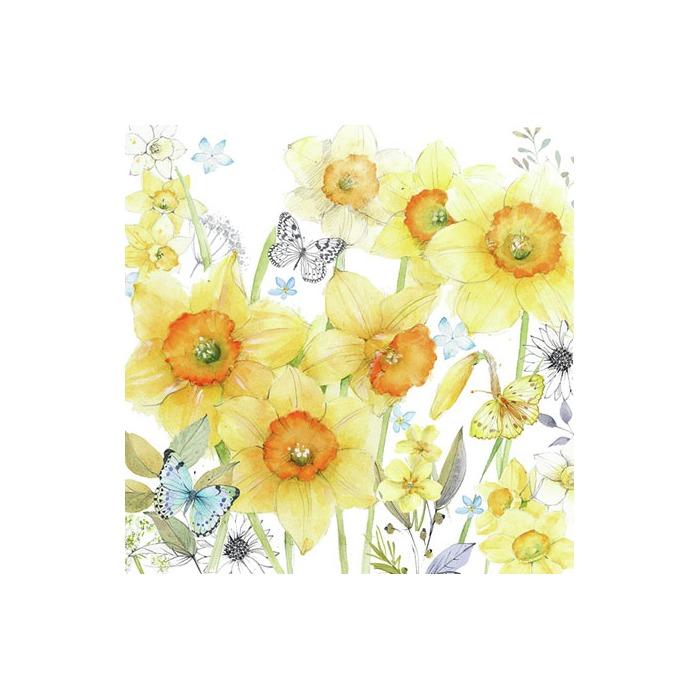 Kaffe servietter Classic daffodils 25x25