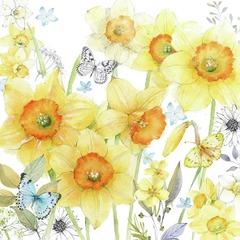 Lunch servietter classic daffodils 33x33