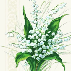 Lunsj servietter sweet white bells 33x33