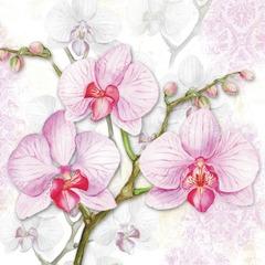 Lunsj servietter orchids lilac 33x33