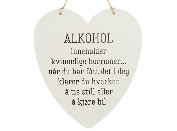 Metallskilt hjerte alkohol