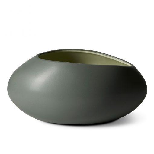 Eggvase mosegrå/mint
