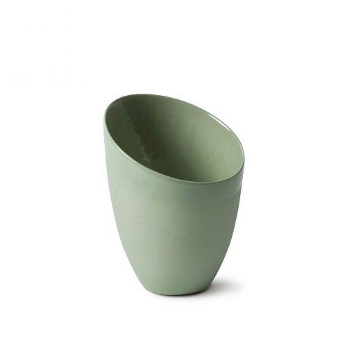 Skrå telysestake grønn