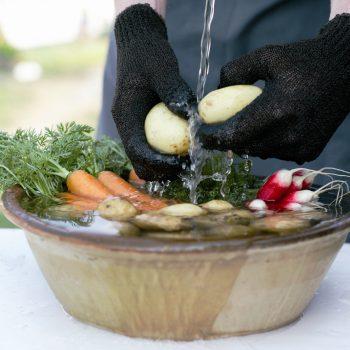 Skrubbhanske til grønnsaker