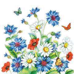 Napkin 33 cm Cornflower