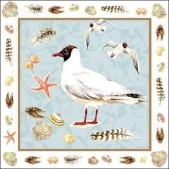 Lunsj servietter Black headed seagull blue