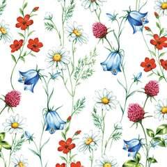 Lunsj servietter Mixed wild flowers white 33x33