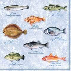 Lunsj servietter Fishes 33x33