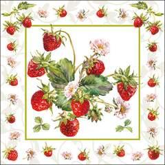 Lunsj servietter Fresh Strawberries 33x33
